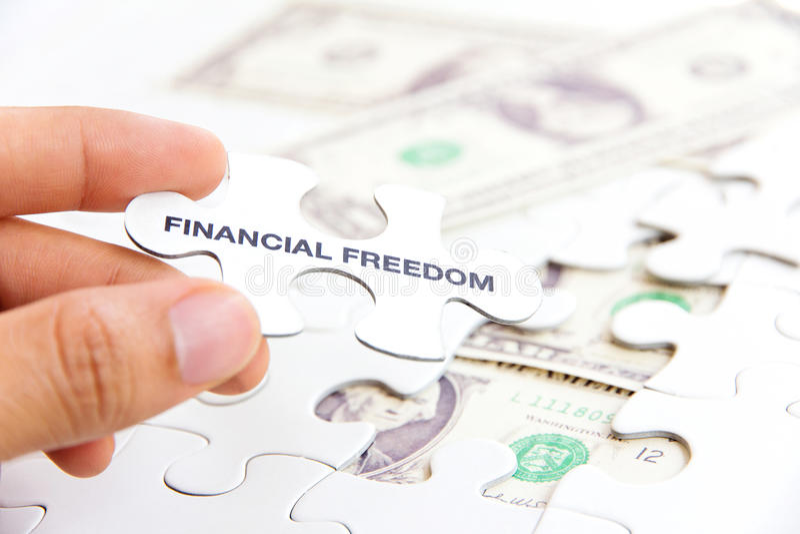 财政自由概念 库存图片