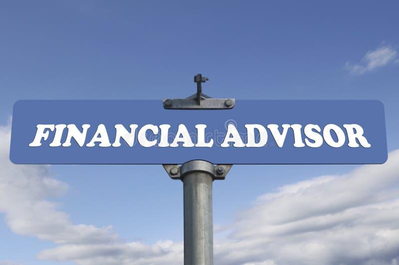 财政顾问路标 向量例证