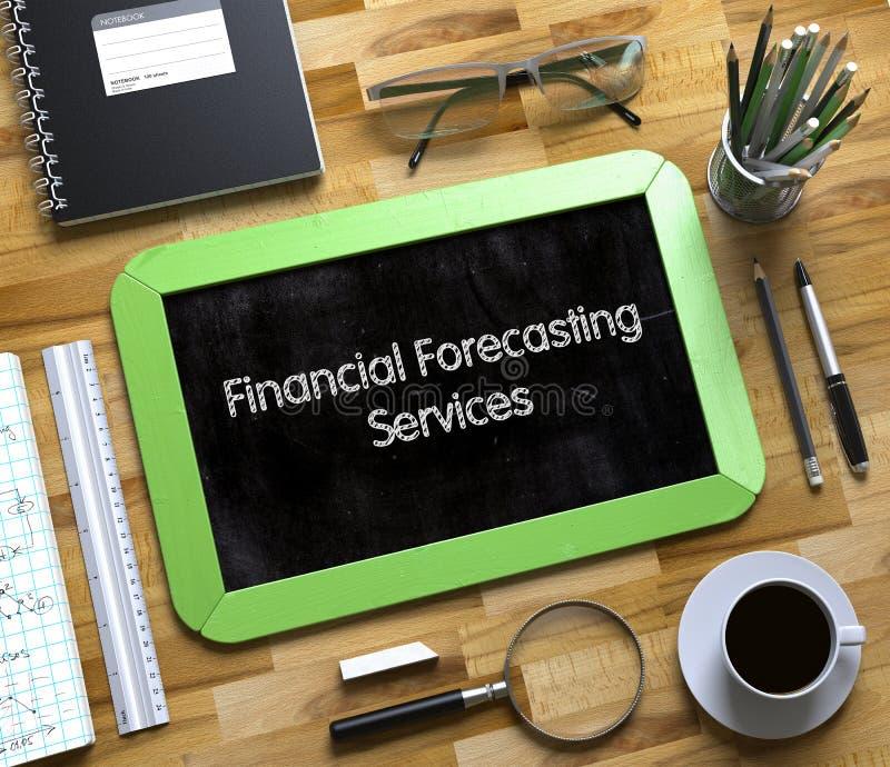 财政预测为在小黑板的概念服务 3d 库存图片