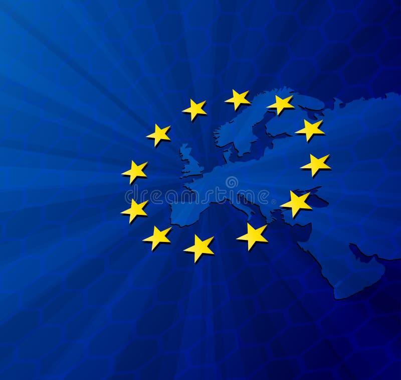 政治大陆欧洲的映射 库存例证