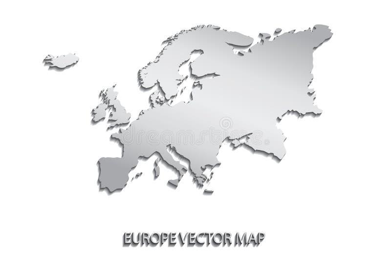 政治大陆欧洲的映射 向量例证