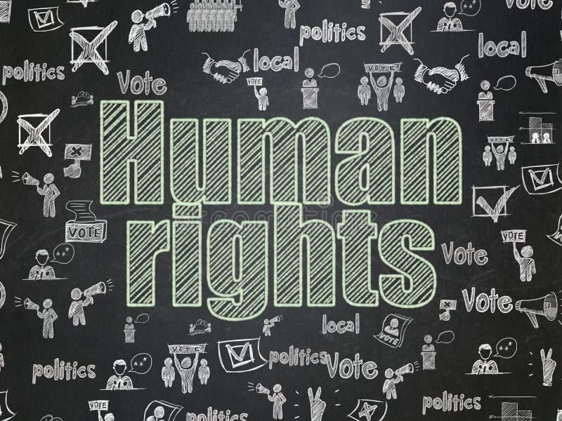 政治概念:在校务委员会背景的人权 库存例证