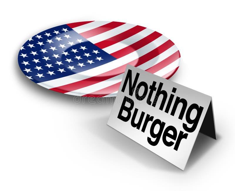 政治没什么汉堡 库存例证