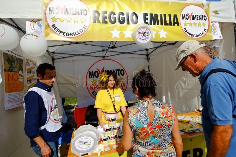 政治示范在罗马 免版税库存照片