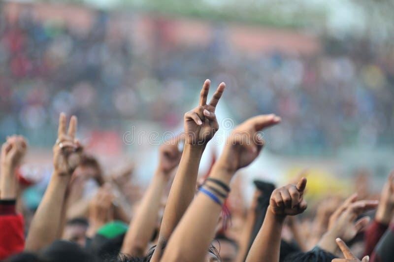 政治运动在印度尼西亚 免版税库存图片