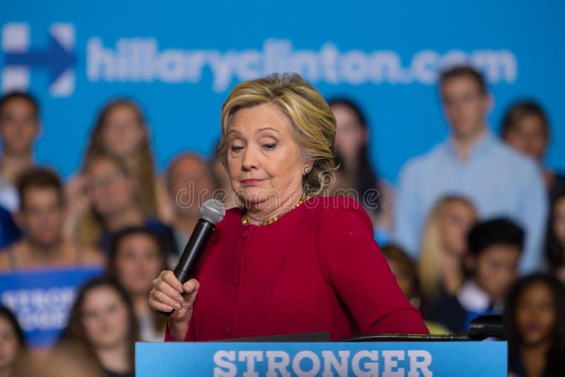 2016政治运动集会的希拉里・克林顿秘书 免版税库存图片
