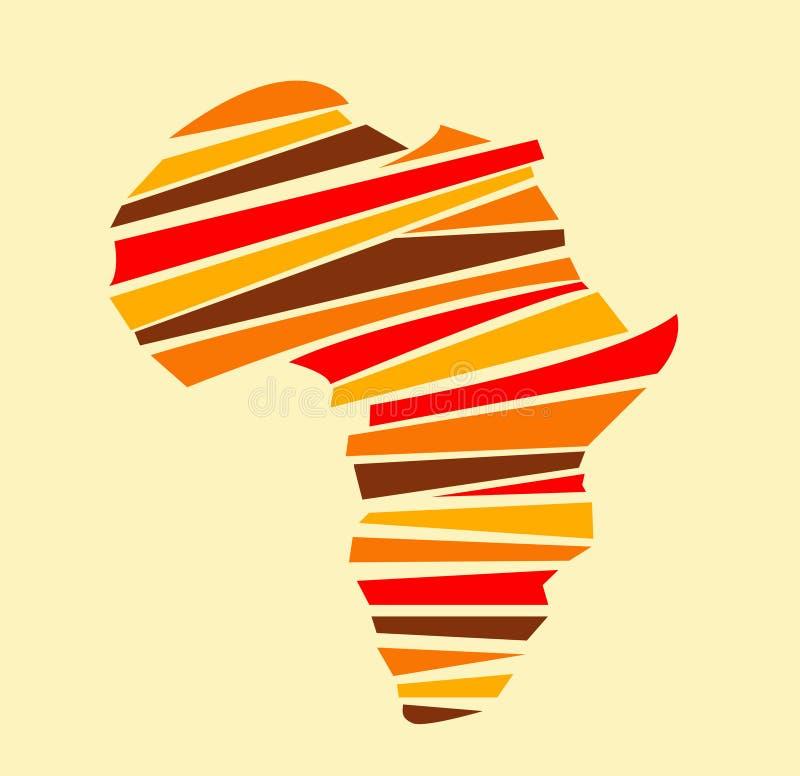 政治非洲大陆的映射 库存例证