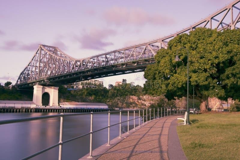 故事桥梁在布里斯班,昆士兰 库存照片