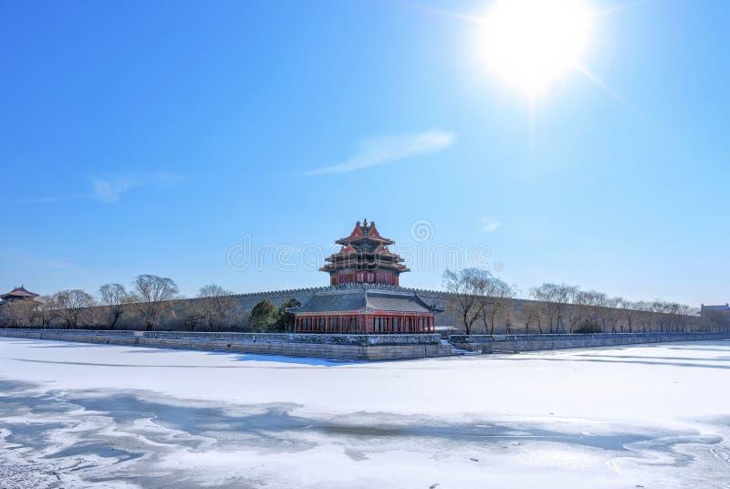 故宫城楼 库存照片