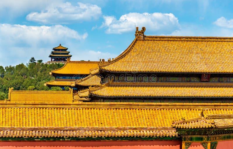 故宫的传统屋顶在北京图片