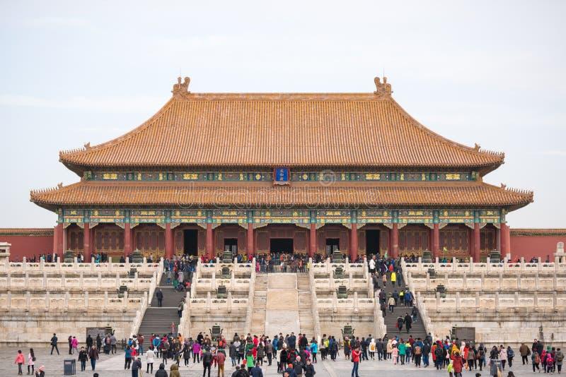 故宫的看法,故宫博物院 免版税库存图片