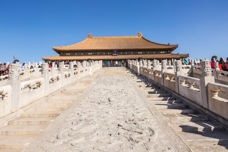 故宫的至尊和谐的霍尔在北京在中国 免版税库存照片