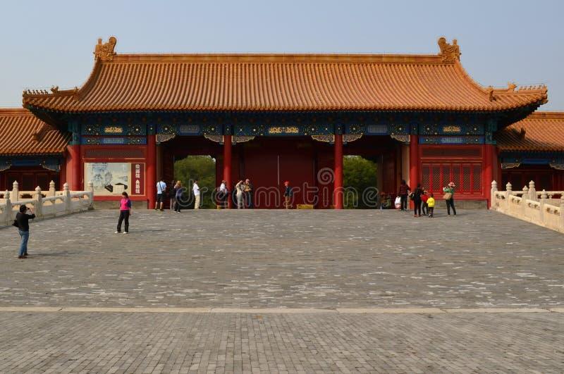 故宫门,北京,中国 免版税库存照片