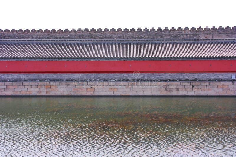 故宫` s护城河 免版税图库摄影