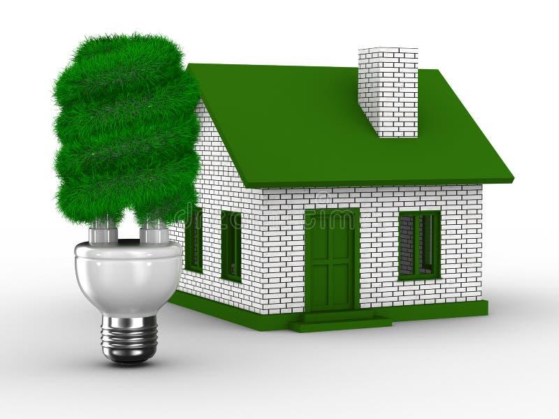 效率房子次幂 向量例证