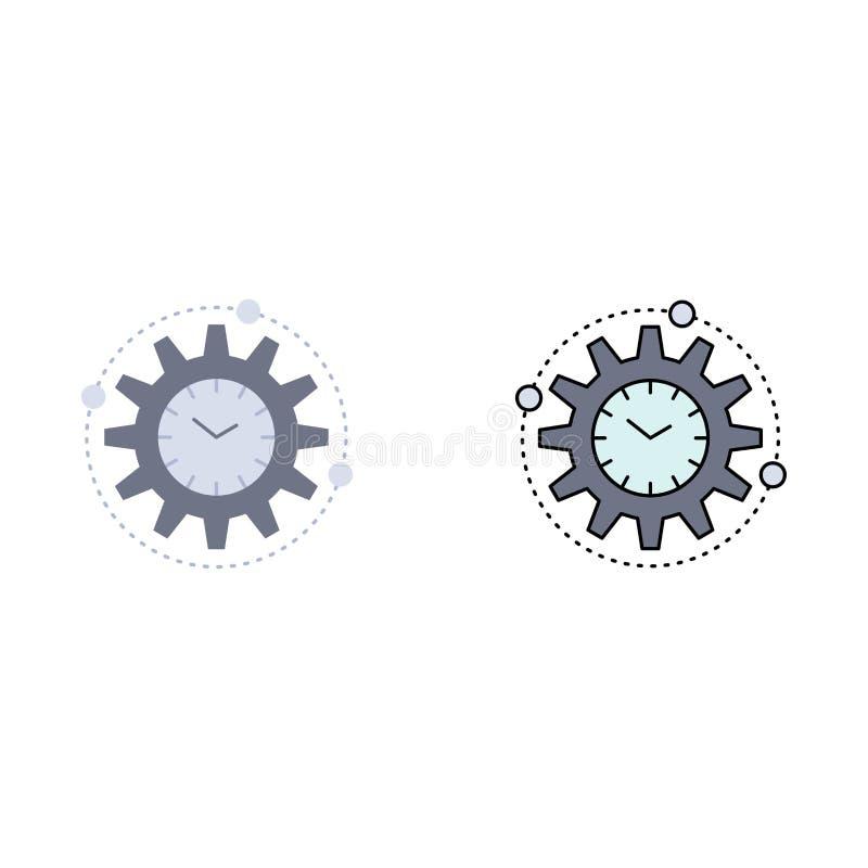 效率,管理,处理,生产力,项目平的颜色象传染媒介 库存例证