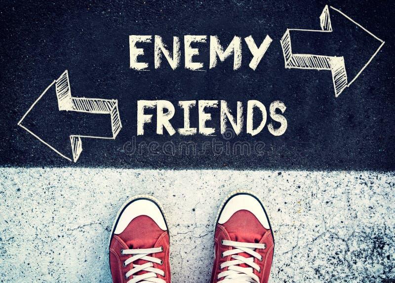敌人和朋友 免版税库存照片