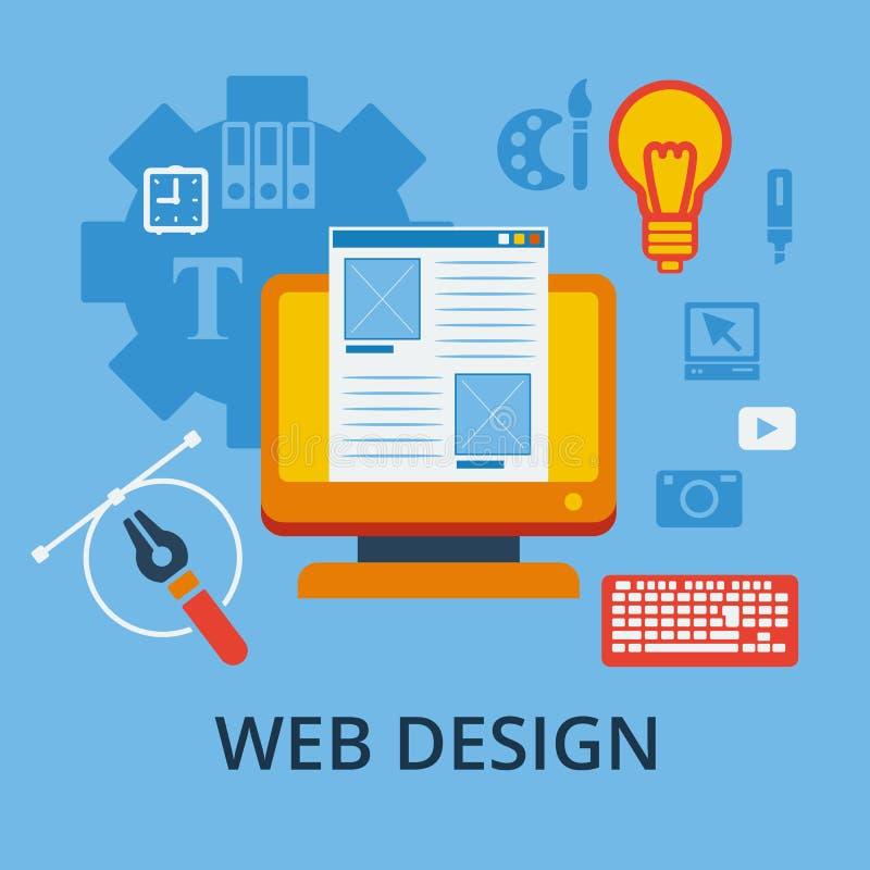 敏感网络设计和图形设计的象 向量例证