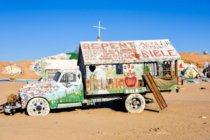 救世山被绘的卡车 图库摄影