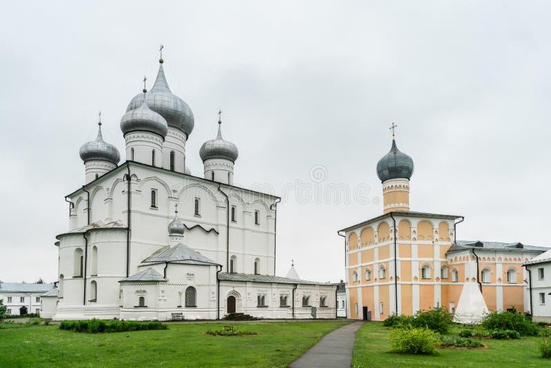 救主的变貌Khutyn修道院和圣Varlaam ??novgorod?? 免版税库存照片