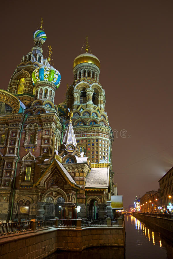 救主,圣彼德堡教会溢出的血液的 免版税库存图片