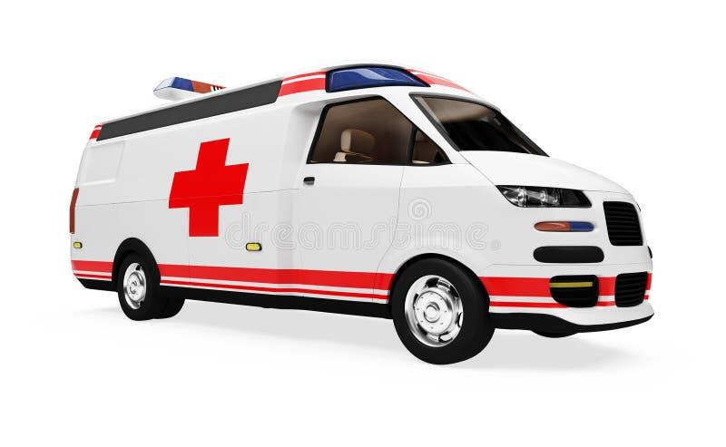 救护车概念远期查出的卡车视图 向量例证