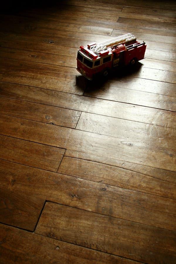 救火车模型玩具葡萄酒 图库摄影