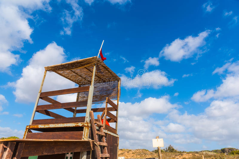 救生员小屋在耶老岛的波尔图 图库摄影