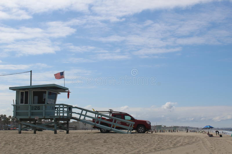 救生员,加利福尼亚 免版税库存照片