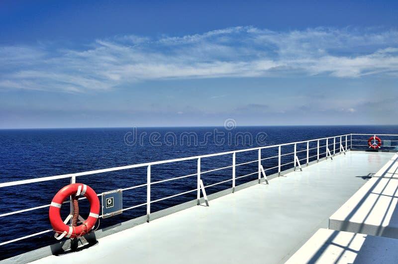 救生艇甲板 免版税库存图片