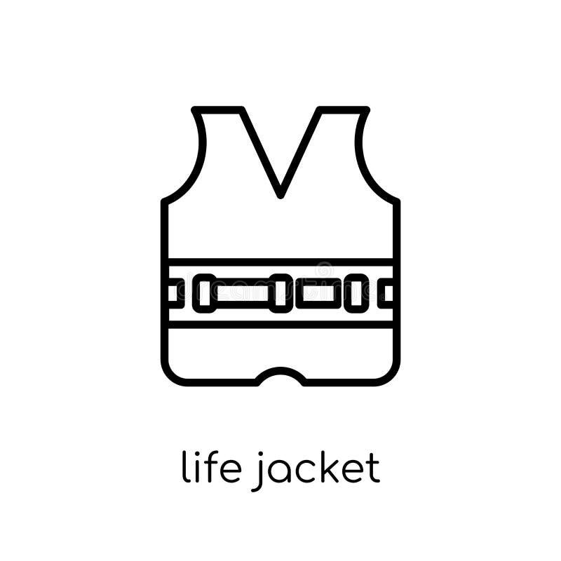 救生衣象 时髦现代平的线性传染媒介救生衣i 向量例证