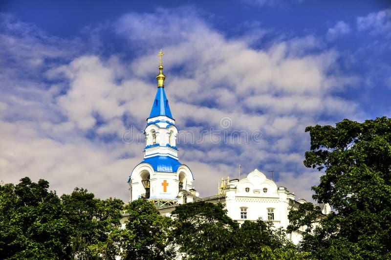 救主大教堂的变貌Valaam的 图库摄影