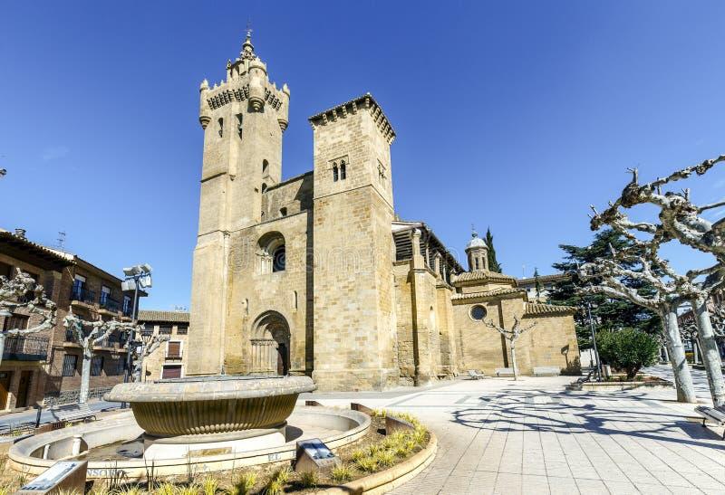 救主教会,埃赫亚德洛斯卡瓦列罗斯西班牙 免版税库存图片