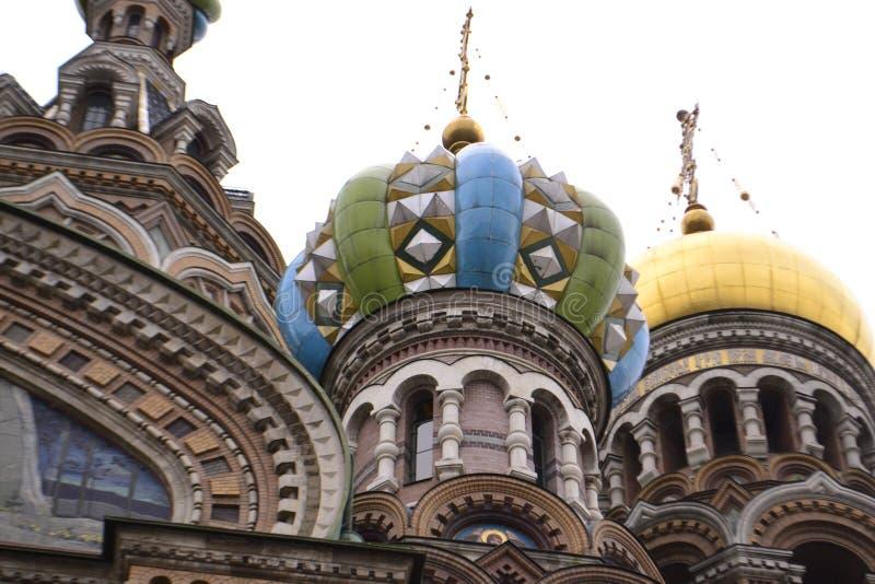 救主的大教堂的建筑细节Spilled血液的 库存图片