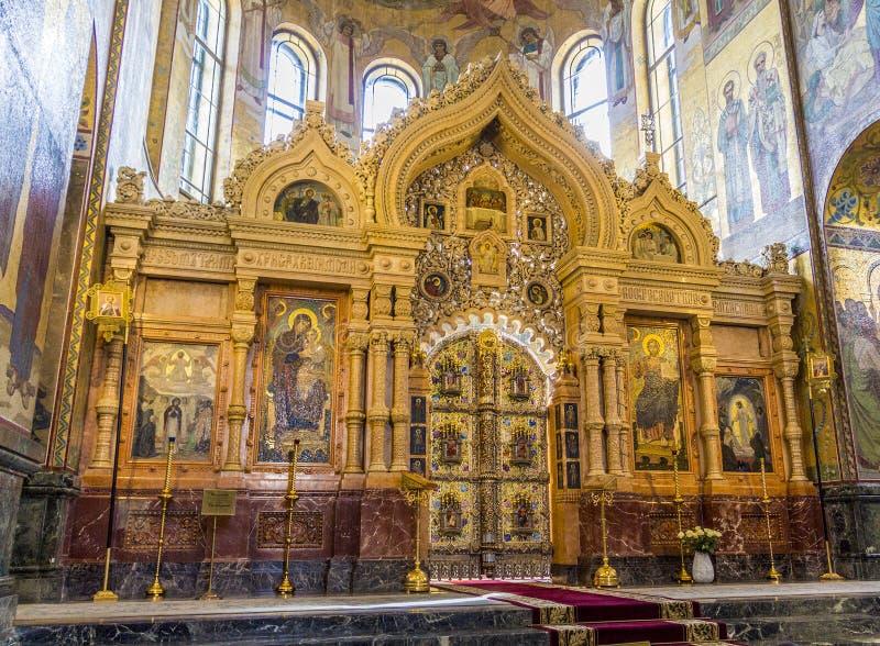 救主的教会溢出的血液的(复活大教堂) 免版税库存图片