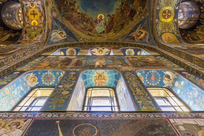 救主的教会溢出的血液的(复活大教堂) 库存照片