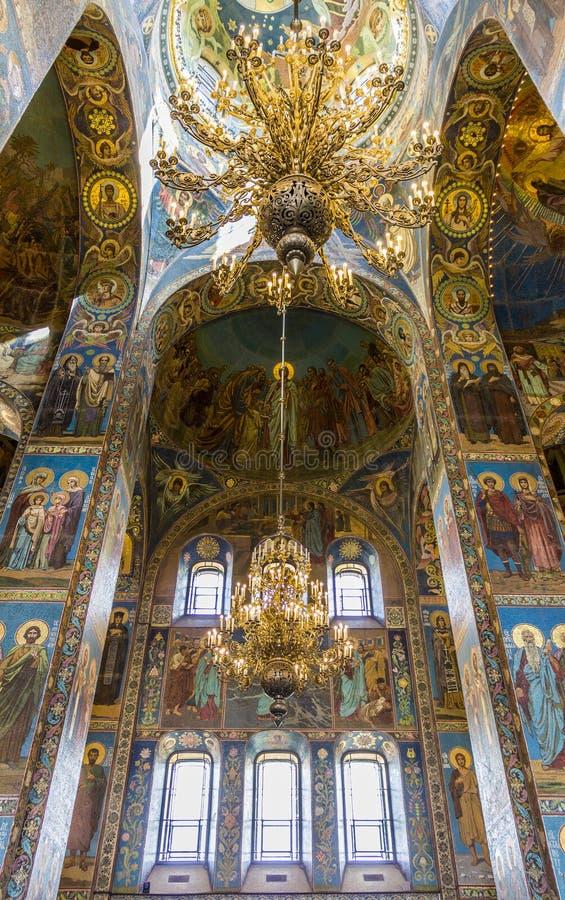 救主的教会溢出的血液的(复活大教堂) 免版税图库摄影