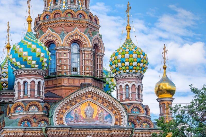 救主,圣彼德堡俄罗斯的教会溢出的血液的 免版税图库摄影