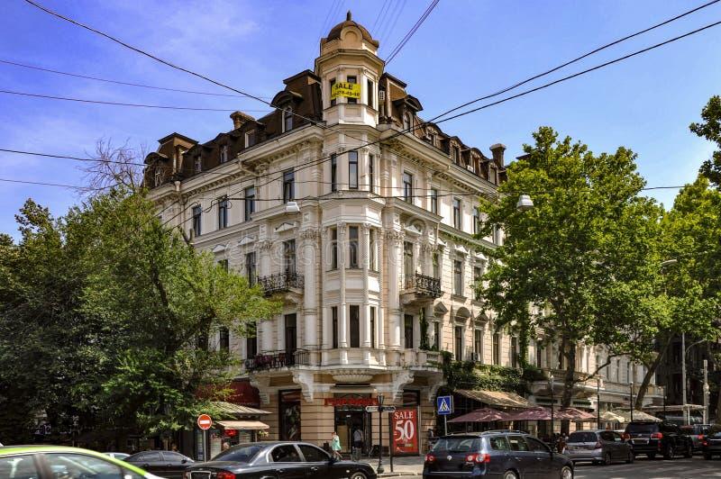 敖德萨,乌克兰 2018年6月21日 上个世纪的建筑 敖德萨中心,圣里舍利夫斯卡娅9号 库存照片