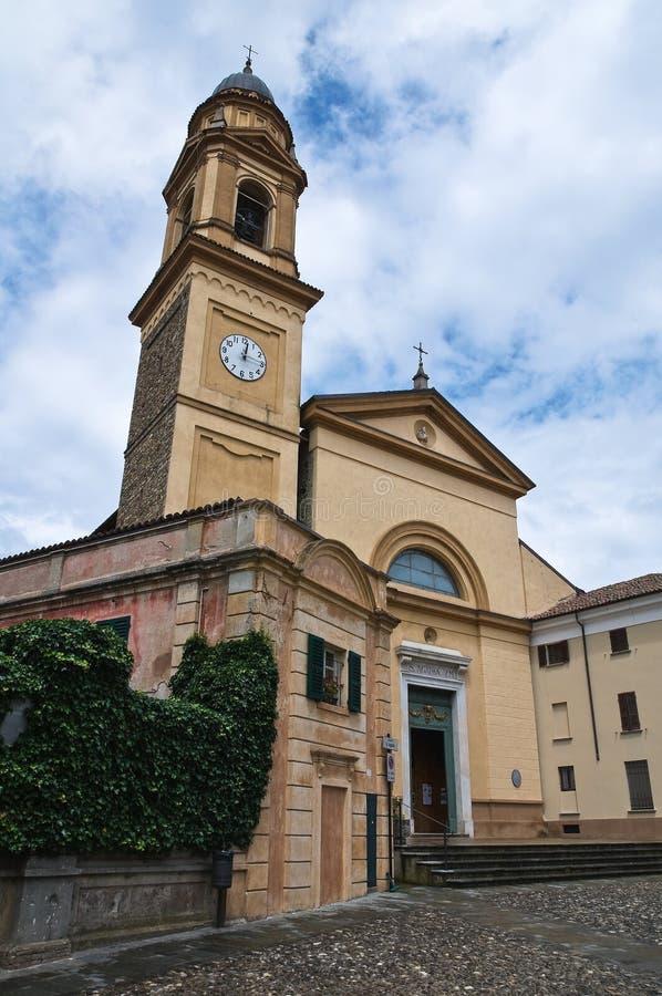 教会一点红历史意大利romagna 库存图片