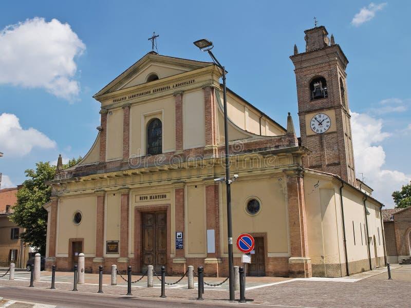 教会一点红历史意大利romagna 免版税库存照片