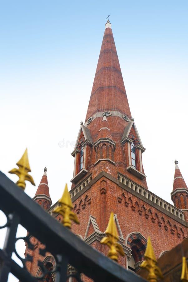 教会上面在上海 图库摄影