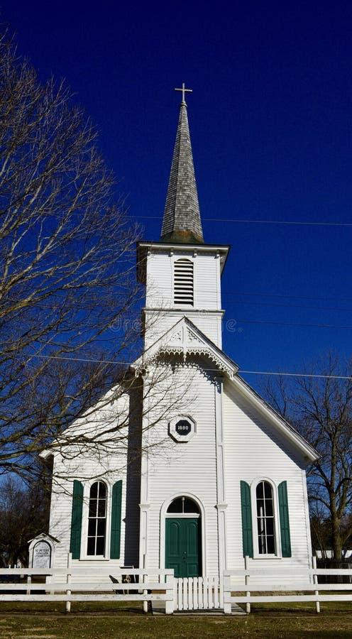 教会丹麦ind找出老sengeloese 库存图片