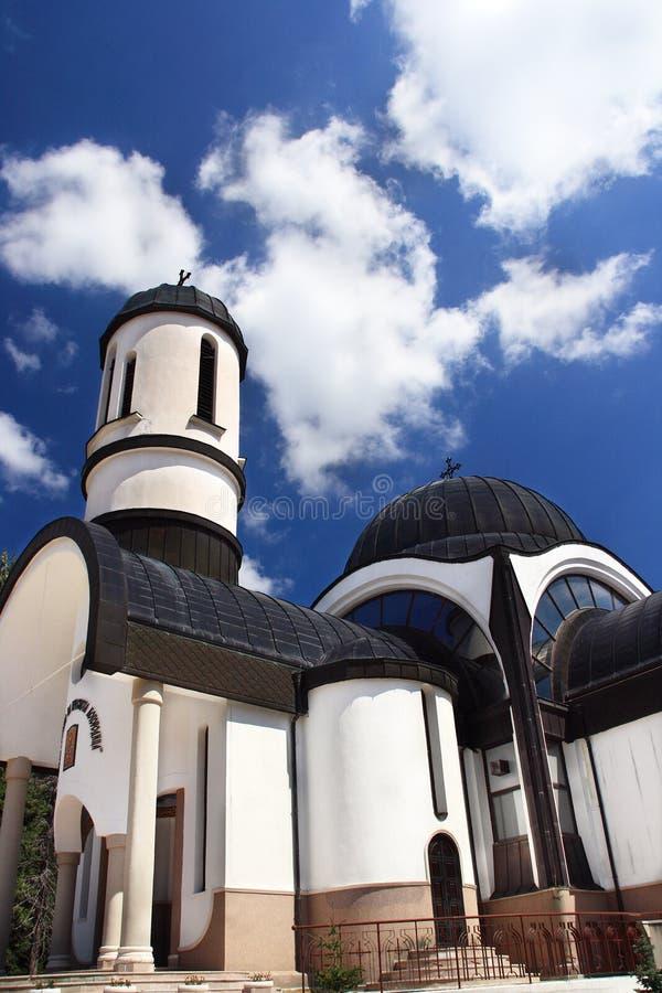 教会交叉圆顶 免版税图库摄影