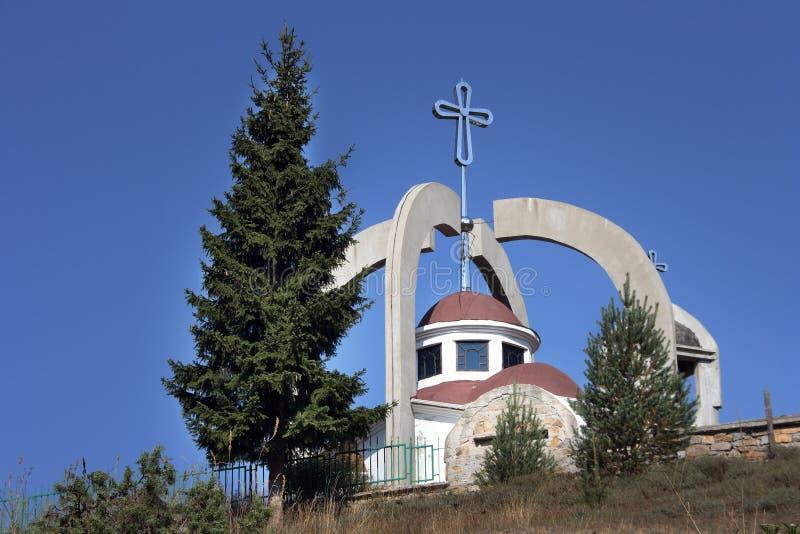教会交叉圆顶 图库摄影