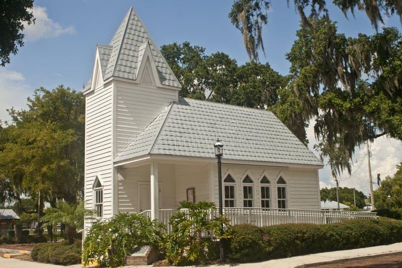 教会佛罗里达历史被顶房顶的锡 免版税库存图片