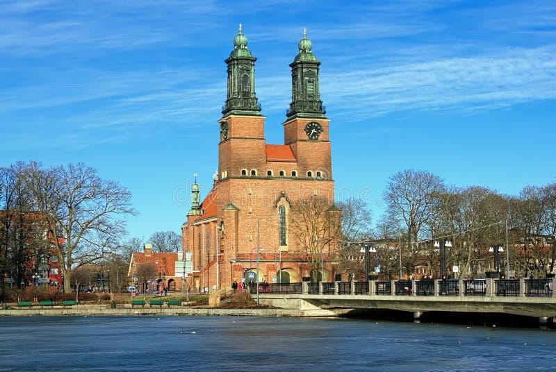 教会使eskilstuna klosters kyrka出家 图库摄影