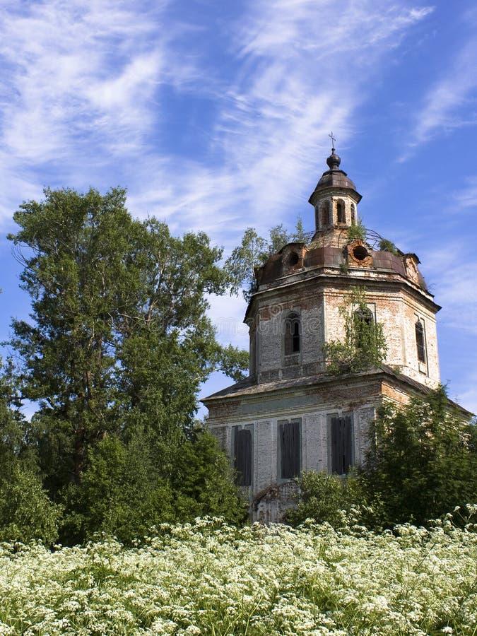教会俄语被投掷 库存图片