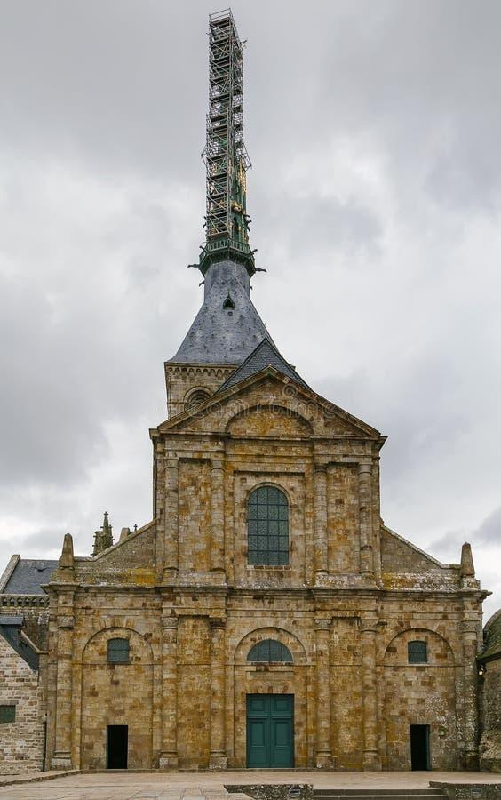 教会修道院圣米歇尔,法国 库存图片