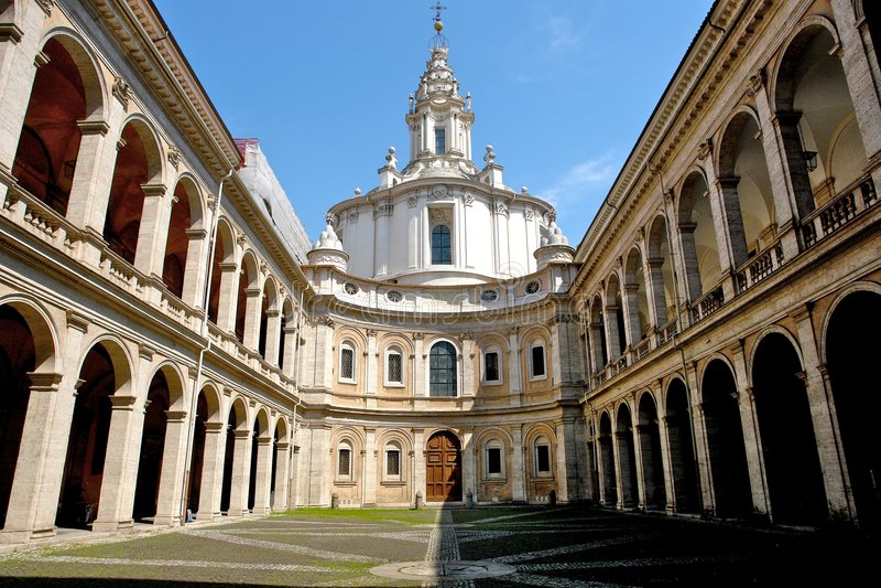教会修道院意大利语 免版税库存图片